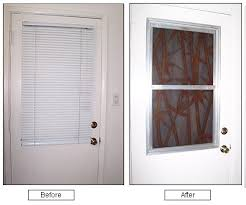 Blinds For Doors With Windows Ideas Top Odl Enclosed Blinds Built In Door Window Treatments For Entry