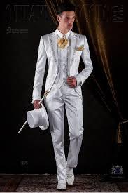 costume mariage blanc costume de mariage blanc avec broderie doré ottavio nuccio gala