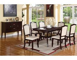 Espresso Dining Room Set by Espresso Dining Set Table 6 Chairs