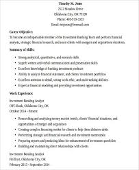 Examples Of Banking Resumes by 26 Banking Resume Examples Free U0026 Premium Templates