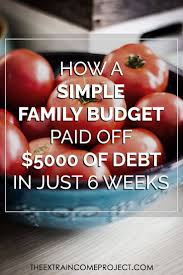 Get Out Of Debt Budget Spreadsheet How A Simple Family Budget Paid Off 5000 Of Debt In 6 Weeks