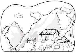Coloriage montagnes  img 7075