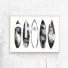 Wall Art Designs by Chanel Print Chanel Poster Art Print Chanel Surfboard Chanel