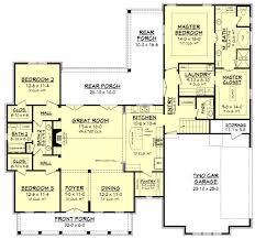 highland court ii house plan brick accent walls open living