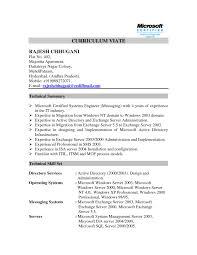 Ccnp Resume Format Ccna Resume Template Eliolera Com