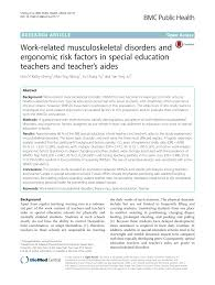 special education teacher resume examples 2013 work related musculoskeletal disorders and ergonomic risk factors work related musculoskeletal disorders and ergonomic risk factors in special education teachers and teacher s aides pdf download available