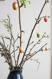 dip dyed wooden easter ornaments