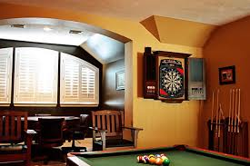 room and board custom table beautiful dart board cabinet in family room transitional with custom