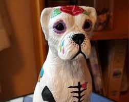boxer dog statue boxer dog etsy