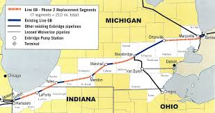 Map Of The State Of Michigan by Will Enbridge Energy U0027s New Pipeline In Michigan Be Safer