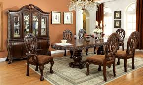 furniture of america elmiraine double pedestal 7 piece cherry furniture of america elmiraine double pedestal 7 piece cherry dining table set