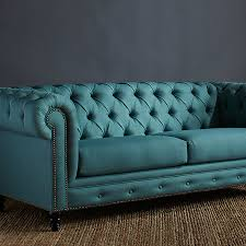 Teal Chesterfield Sofa Meagan 90 Chesterfield Sofa In Teal New House Furniture