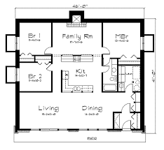 ranch style house plan 3 beds 1 baths 1839 sq ft plan 57 260
