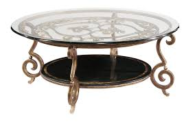 round cocktail table base and glass top bernhardt