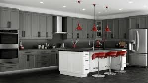 gray cabinet kitchens red and grey kitchen ideas baytownkitchen com
