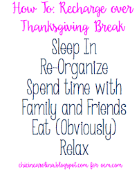 how to recharge thanksgiving the ocm