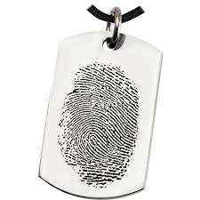 remembrance dog tags wholesale fingerprint memorial jewelry stainless steel dog tag