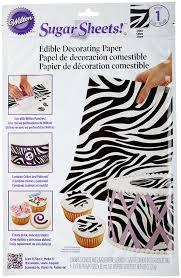amazon com wilton sugar sheet zebra print dessert decorating