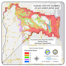 St Johns Florida Map by Nassau County Official Website Know Your Evacuation Zone