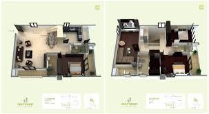 Duplex Floor Plans Golf Edge Floor Plans Premium 2 U0026 3 Bhk Apartments Starts From