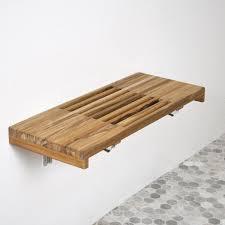 Wood Shower Stool Bathroom Shower Seats Wall Mounted