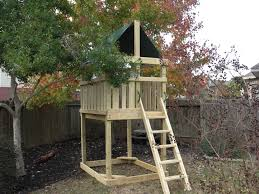 triton playset diy wood fort and swingset add on plans