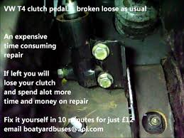 vw t4 clutch pedal broken as usual youtube