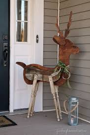 Outdoor Reindeer Decorations Wooden Outdoor Christmas Decorations Backyard Landscape Design