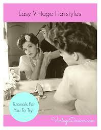 create easy vintage hairstyles vintage hairstyles victory rolls