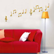 popular music 3d stickers buy cheap music 3d stickers lots from 2017 53x30cm 21x12in 3d creative musical note mirror wall classroom stickers self adhesive
