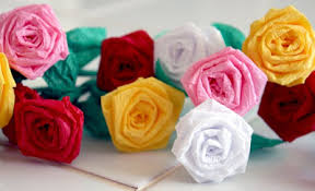 tissue paper streamers filth wizardry mini roses from dollar store crepe paper streamers