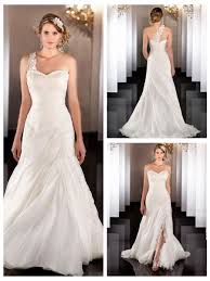 silk organza a line lace apliques ruched wedding dress with