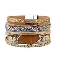 leather cuff wrap bracelet images Jenia womens leather cuff bracelet agate and jpg