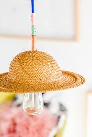 diy light pendant hat brat how to make a unique diy pendant light with a hat