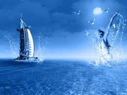 modern burj al arab hotel dubai blue water wide resolution for hd