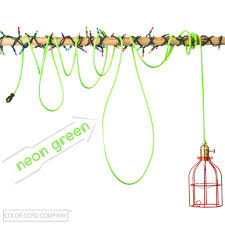 Color Cord Pendant Light All Signs Point To Neon Color Cord Company