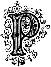 ornamental letter clipart etc fonts fancy letters