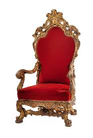Throne Chair Regence Style 19th Cent Gilt Throne Chair With Carved Back