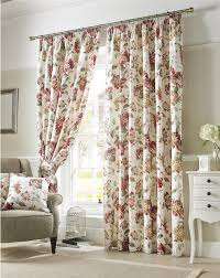 Pencil Pleat Curtains Flowers Floral Green Lined Pencil Pleat Curtains 9