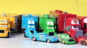 disney monster truck videos disney pixar cars new hauler launching with lightning mcqueen