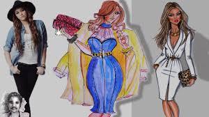 2017 fashion trends dress draw fashion dress color drawing