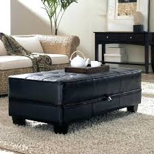Leather Storage Ottoman Coffee Table Leather Coffee Table Storage Brown Faux Leather Storage Ottoman