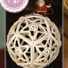 free folded star ornament pattern free crocheted ornament cover