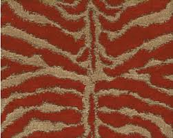 Heavy Drapery Fabric Tiger Red Animal Print Red Gold Chenille Tapestry Heavy Bedding
