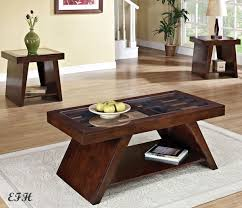 coffee table end table set interior excellent dark wood coffee table sets 1 perfect end