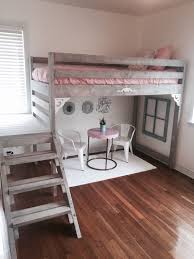 white girls bunk beds ana white loft bed i made for my daughters room daughters room