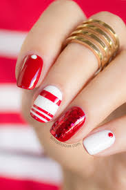 like red and white we mix and match mix match nails white nails