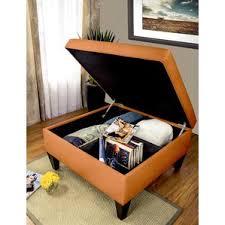 orange ottomans u0026 poufs you u0027ll love wayfair