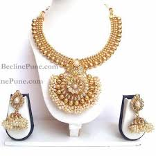 indian necklace sets images Pearl cluster necklace sets online india hayagi jpg