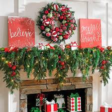Outdoor Garland With Lights by 6 U0027 Cascading Christmas Garland Grandin Road